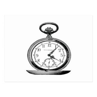 Anuncio de periódico del reloj de bolsillo del postal