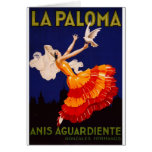 Anuncio del licor del vintage de Paloma del La Tarjeta