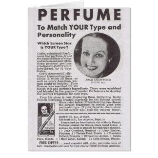 Anuncio del perfume de JOAN CRAWFORD