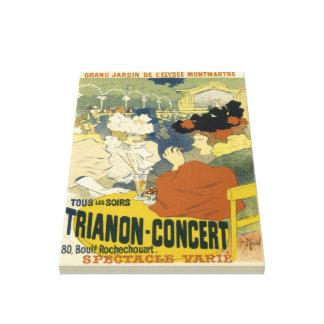 Anuncio del Trianon-Concierto del vintage Impresión En Lienzo