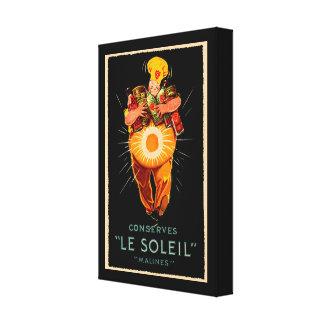 Anuncio del vintage de Le Soleil Conserves Lienzo