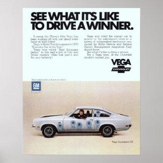 Anuncio del vintage de Vega Póster
