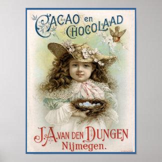 Anuncio del vintage del en Chocolaad del cacao - i Impresiones