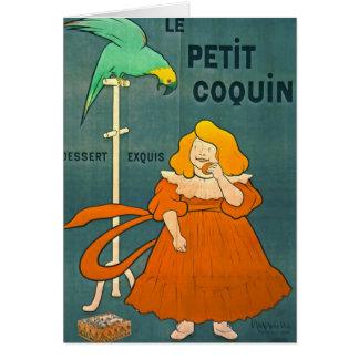 Anuncio francés 1900 del vintage tarjeta de felicitación