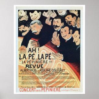Anuncio francés de la revista del teatro del époqu poster