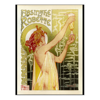 Anuncio francés del ajenjo del vintage postal