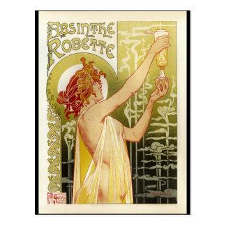 Anuncio francés del ajenjo del vintage tarjetas postales