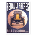 Anuncio francés del automóvil de Renault Freres Postal