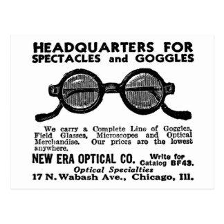 Anuncio Googles del vintage del kitsch y vidrios Postal