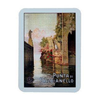 Anuncio italiano 1920 del viaje de Como Lenno del  Imanes