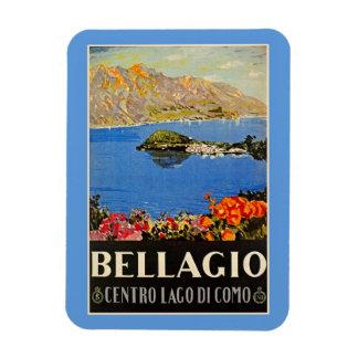 Anuncio italiano del viaje de Bellagio de los años Iman