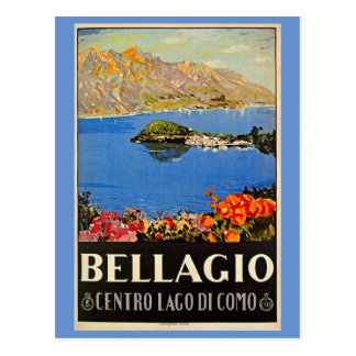 Anuncio italiano del viaje de Bellagio de los años Postal