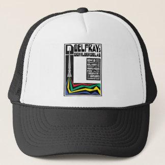 anuncio moderno retro del vintage: brocha gorra de camionero