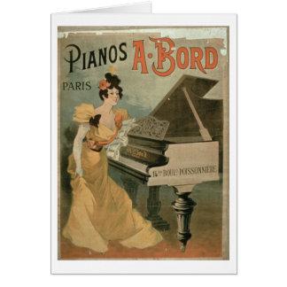 Anuncio para A Bord Pianos París color Felicitaciones