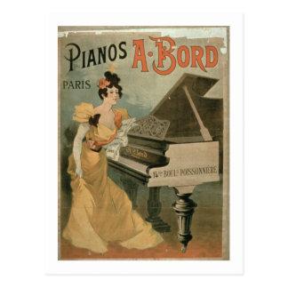 Anuncio para A Bord Pianos París color Postal