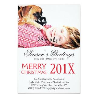 Anuncio publicitario veterinario del navidad de la invitación 8,9 x 12,7 cm