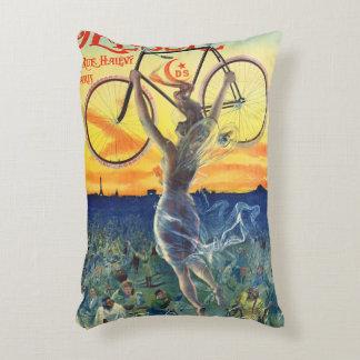 Anuncio retro 1898 de la bicicleta cojín decorativo