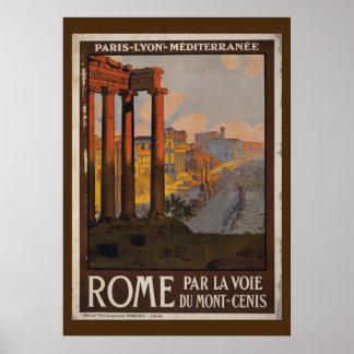 Anuncio romano del viaje del vintage del foro póster
