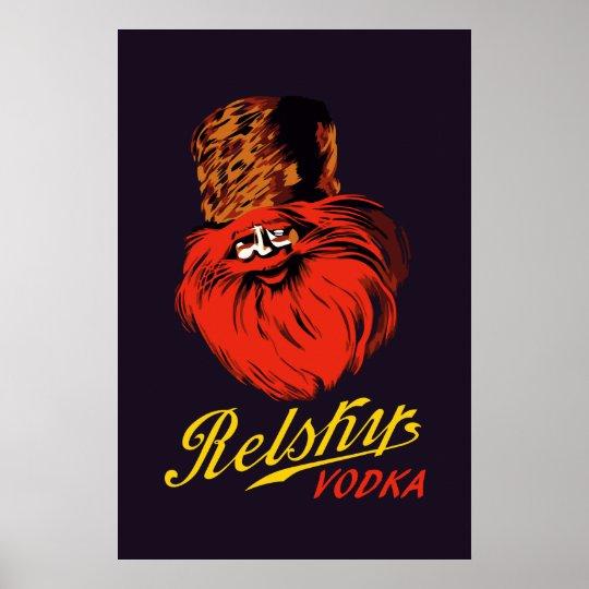 Anuncio ruso de la vodka del estilo del vintage póster