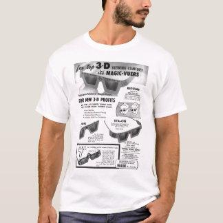 Anuncio tridimensional de los vidrios de la camiseta