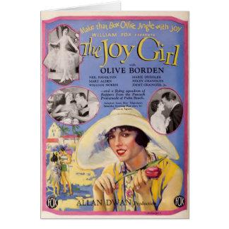 Anuncio verde oliva 1927 del distribuidor de la tarjeta de felicitación