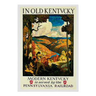 Anuncio viejo del viaje del ferrocarril del póster