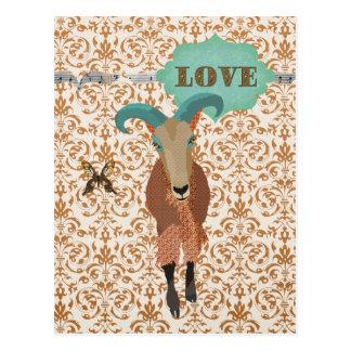 Aoudad de Golddust y amor de la postal del damasco