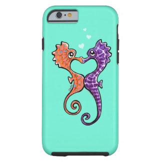 Apagado-Correo Art™ del beso del Seahorse Funda De iPhone 6 Tough