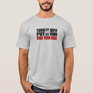 Apagúelo, puesto le abajo, monte su bici camiseta