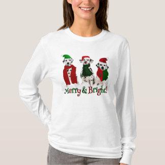 APAL - Perros dálmatas del navidad en la nieve Camiseta