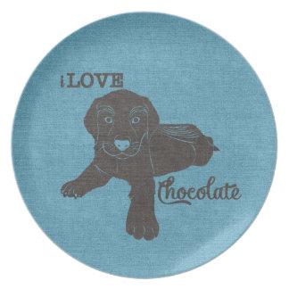 APAL - Placa de los amantes del perro de Labrador Plato De Cena