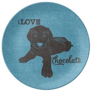 APAL - Placa de los amantes del perro de Labrador Platos De Cerámica