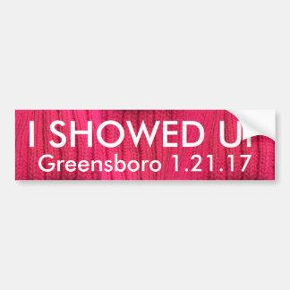 Aparecí Greensboro Pegatina Para Coche