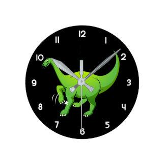 Apatosaurus Reloj Redondo Mediano