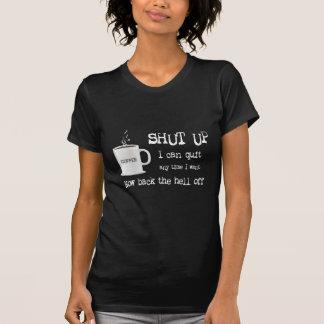 Apego del café - oscuridad para mujer camiseta