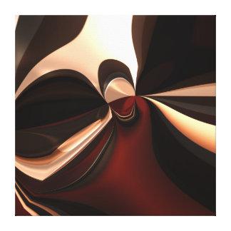 Apego marrón del arte abstracto de la lona