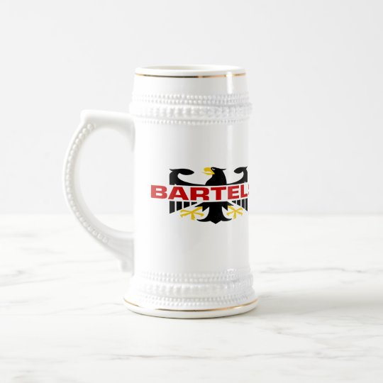 Apellido de Bartels Jarra De Cerveza