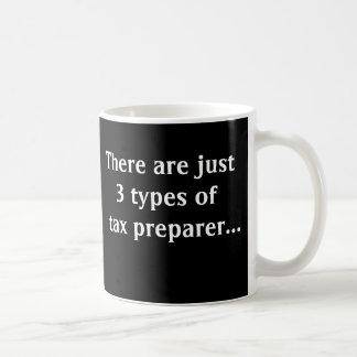 Apenas 3 tipos de preparador de impuesto taza