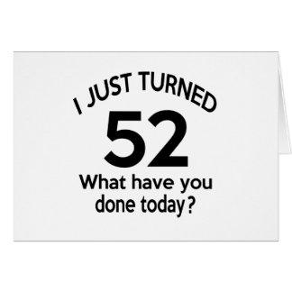 Apenas 52 dados vuelta tarjeta de felicitación