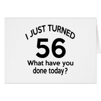 Apenas 56 dados vuelta tarjeta de felicitación