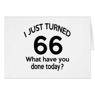 Apenas 66 dados vuelta tarjeta de felicitación