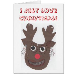 Apenas amo la tarjeta de felicitación del navidad
