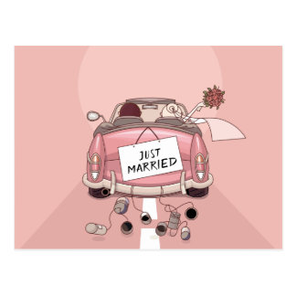 Apenas amor rosado casado de la invitación del