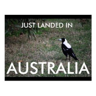 Apenas aterrizado en la postal de Australia