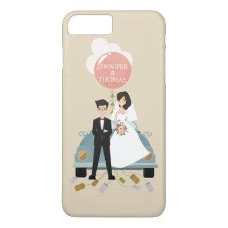 Apenas cajas casadas del boda del coche. funda para iPhone 8 plus/7 plus