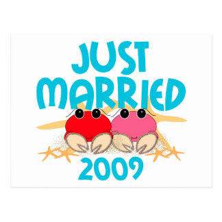 Apenas casado 2009 postal