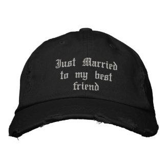 Apenas casado con mi gorra gótico del boda del