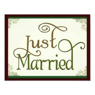 Apenas casado en fuente de la diversión del