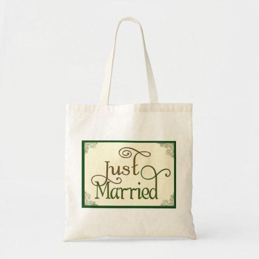 Apenas casado en fuente de la diversión del remoli bolsa de mano