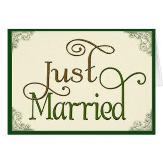 Apenas casado en fuente de la diversión del remoli tarjetón